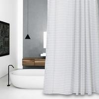 Eco Friendly blanc et gris Baignoire Salle de bains Tissu rideau de douche  avec 12 crochets 71Wx71H de haute qualité imperméable à l eau et ...