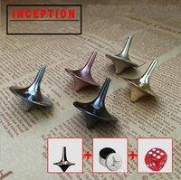 Wholesale movie spinning tops resale online - 5Color Zinc Alloy Silver Spinning Top From Inception Totem Movie Children Toys Beyblade With Retail Metal Box Christmas Gift c029