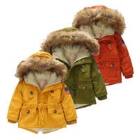 teen jungen kleidung großhandel-Kinder mantel 2018 Herbst Winter Jungen Mädchen Jacke für Kinder Kleidung Mit Kapuze Oberbekleidung Teen Boy Kleidung 4 5 6 7 8 9 Jahre Mantel