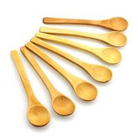 дети деревянные набор инструментов оптовых-Мини деревянная ложка кухня кулинария чайная ложка Приправа посуда кофейная ложка дети мороженое посуда инструмент 12 шт. / компл.