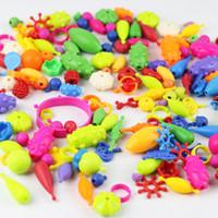 el yapımı kuyumculuk boncukları yap toptan satış-DIY Boncuklu Kız El Yapımı Boncuklu Oyuncak Kız Çocuk Dostluk Boncuk Takı Yapımı Kiti Yaratıcı Zanaat Eğitici Oyuncak Noel Hediyesi