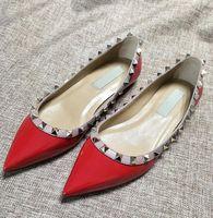 modèles de vêtements élégants achat en gros de-Hot Brand Design élégant femme chaussures en cuir verni avec chaussure plat fête et chaussures plates quotidiennes femmes chaussures habillées femmes sandal.