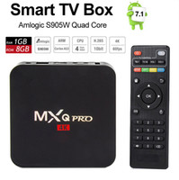 Wholesale android tv box quad core airplay for sale - Group buy MXQ Pro TV Box Android K Amlogic S905W Quad Core WiFi G G LAN Airplay Miracast H Smart Google Youtube Media Player RK3229 TVbox