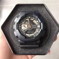 часы двойные цифровые часы оптовых-2018 Мужчины шок спорта на открытом воздухе часы Кварцевые часы цифровые часы военные водонепроницаемый силиконовые наручные часы LED Dual Time G стиль шок часы