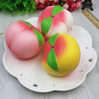 Wholesale Fragrance Scent - Pink Peach Squishy Fragrance Jumbo kawaii Scented Squishies Slow Rising Toys Anti Stress kawaii Decoration Squishy Phone Strap