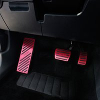 Wholesale brake clutch gas pedals resale online - Aluminum Car Accelerator Gas Brake pedal Clutch Pedal AT For Skoda kodiaq Non Slip Pedal Plate Pads Covers