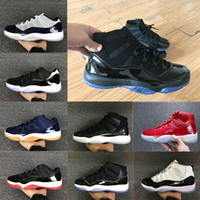 Wholesale Rose Totem - 11 11s Prom Night basketball Shoes men women high gym red Midnight Navy low bred Barons concord bred gamma blue Athletic sports sneakers