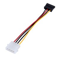Wholesale 15 Serial - 1pcs Serial ATA SATA 4 Pin IDE Molex to 15 Pin HDD Power Adapter Cable Hard Drive Adapter Male to Female Cable Free Shipping