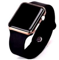 dama reloj deportivo al por mayor-Deporte Mujeres Reloj LED Hombres A prueba de agua Relojes Digitales de silicona Cuadrado Hombre Señoras Reloj de pulsera Unisex Reloj electrónico