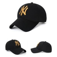 Wholesale ny yellow - 2018 Top Fashion NY Letter 5 Color Shine Baseball Ball Caps Peaked Cap New Adjustable Snapbacks Mens Womens Sport Hats