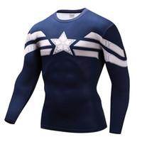 ingrosso costumi cosplay rapidi-Camicia a compressione di moda abbigliamento uomo marca flash costume cosplay quick dry abbigliamento fitness 3d stampa tshirt