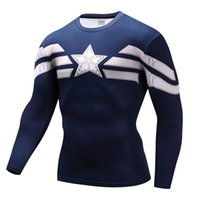 trajes de cosplay rápidos venda por atacado-Homens Roupas de Marca Moda Camisa de Compressão Flash Cosplay Traje Quick Dry Vestuário de Fitness 3d Impressão Tshirt