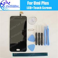 umi phone großhandel-Umi Plus LCD Display mit Touchscreen 100% Original LCD Digitizer Glasscheibe Ersatz für Umi Plus Telefon + Geschenke