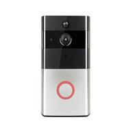 Wholesale home alarm camera door online - IP Video Intercom WI FI Video Door Phone Door Bell WIFI Doorbell Camera For Apartments IR Alarm Wireless Security Camera