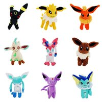 Wholesale bear stands - 9Styles 22CM Stand Eevee Sylveon Espeon Flareon Umbreon Glaceon Jolteon Vaporeon Leafeon Stuffed Animals plush Toys