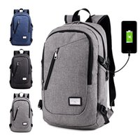 Wholesale Usb Baseball - new Unisex usb rechargeable shoulder bag Outdoor travel large capacity backpack 20-35L Portable phone charging package 14-inch computer bag