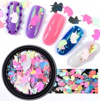 Wholesale rhombus nail art - Mermaid AB Color Nail Sequins Unicorn Rhombus Shape Iridescent Flakies Paillette Accessories Manicure Nail Art Decorations