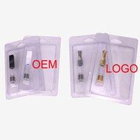mini-kunststoff-zerstäuber großhandel-Clamshell-Kunststoffverpackung für den Einzelhandel Gold-Silber-Farben-Mini-Zerstäuber .5ml 1ml G2-Zerstäuber mit Metallspitze-Kunststofftank Für 510-Faden-Batterie