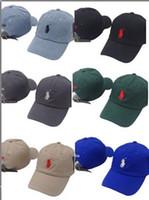 верхние шляпы для оптовых-Топ мода унисекс Cap мода Гольф классические бейсболки полиэстер регулируемая равнина поло snapback кости Casquette открытый ВС gorras папа шляпа
