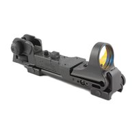 Wholesale red dot weaver mount resale online - Tactical CMORE Red Dot Reflex Sight with AR Rear Iron Sight Integral Picatinny Mount Fit mm RIS standard weaver rail