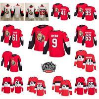 ottawa senador jersey al por mayor-2018-2019 Ottawa Senators New Mens 100th Classic 65 Erik Karlsson 95 Matt Duchene 61 Mark Stone 41 Anderson Hockey Jerseys Stiched