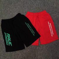 Wholesale x men logo - Best Version A$AP Rocky Brand AWGE x Midnight Studios Logo Printed Men Shorts T Hiphop Men Cotton Shorts Joggers Knee Length
