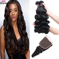 Wholesale brazilian human hair cheap prices online - Price Brazilian Loose Wave Bundles With x4 Lace Closure Ishow Human Hair Cheap A Peruvian Virgin Human Hair Extensions