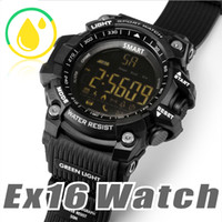 Wholesale waterproof watch camera - EX16 Sports Smart Watch Bluetooth IP67 waterproof Remote Camera Fitness Tracker Wearable Technology Running wristwatch for IOS Android