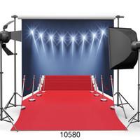 ingrosso sfondi vinili-Tappeto rosso alla fase Fotografia sfondo Sfondo del microfono Fond Studio fotografico Sfondo per Studio fotografico Vinyl 3D