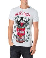 Wholesale German T Shirts - Mens Cotton t-shirts German Brand enriched crystals t shirts Ribbed collar European Alec Monopoly Short Sleeve ROUND NECK SS NEW SOUP Tee