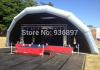 Wholesale Inflatable Event Tents - Free shipping Inflatable stage tent cover marquee outdoor events tent