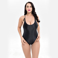 Wholesale racerback swimwear women online - Bright Fabric One Piece Swimwear Women Racerback Push Up Swimsuit Plus Size Swim Wear Sexy Monokinis Swimming Suit