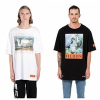 Wholesale h cotton - Ctnnb 2018 men women t-shirt hip hop streetwear Heron Preston oversize H P kanye west Crane streetwear cotton tops tshirt