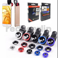 Wholesale eye telescope online - 3 in iphone s set fish eye lens samsung microscope lens telescope wide angle lens for all with clip
