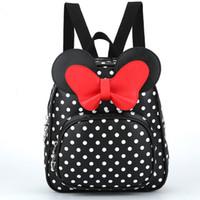 sırt çantası sevimli kadın toptan satış-Yeni Sevimli Mini Sırt Çantası Kaliteli Pu Deri Softback Kadın Sırt Çantaları Okul Kızlar Için Kore Yay Tatlı Kadın Çocuklar Kawaii