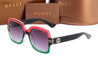 markalı gözlükler toptan satış-2018 yeni Güneş Gözlüğü Erkek Kadın Marka Tasarımcısı Göz Güneş Gözlükleri Bantları Ayna Lensler ile