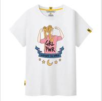 lindas blusas curtas venda por atacado-Marca designer -2018 marca casual T-shirts, blusas de gola redonda, t-shirts, mangas curtas, curto, meninas bonitas usam street wear.