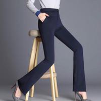 Wholesale women dresses pants for sale - Group buy 2018 autumn High waist Trousers Women Pants Casual Formal Harem Pants Women Office Dress Flare Trousers