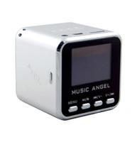 mikro amplifikatör hoparlörleri toptan satış-MÜZIK MELEK Mini Hoparlör USB Micro SD / TF HiFi Ses Amplifikatör MP3 / 4 Müzik Çalar