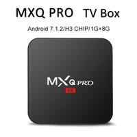 chip cuádruple al por mayor-Fábrica MXQ PRO 4K Android caja de TV 7.1 TV Box Quad Core 1 GB 8 GB H3 Chip de Transmisión de Smart Media Player