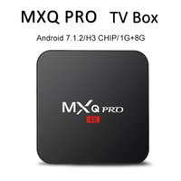 Wholesale android tv box chipped resale online - Factory MXQ PRO K Android Tv Box Quad Core GB GB H3 Chip Streaming Smart Media Player tv Box