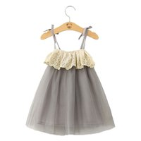 Wholesale China Wholesale Girl Dresses - Sweet Girls Soft Tulle Dress Strapless Fashion Girls Party Children Dress Lace Decoration Party Dress Made in China