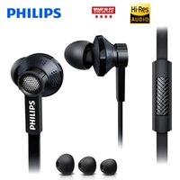 Wholesale Philips Phones - Philips Original Tx1 HiRes earphone high resolution HIFI fever earbuds ear noise canceling earphones for a mobile phone xiaomi