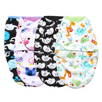 Wholesale swaddling clothes online - Super Soft Baby Sleeping Bag Clothes Double Layer Short Plush Baby Blankets Swaddle Wrap Winter Newborns Envelope Quilt Blanket