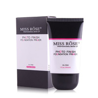 Wholesale miss nails - MISS ROSE Photo Finish Foundation Primer for Oily Skin Oil free Smooth Lasting Facial Makeup Base Professional Face Makeup