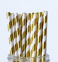 pastel de pops de papel pajitas al por mayor-10000 unids papel de aluminio pajitas de papel, decoración de la ducha nupcial, decoración de la boda, decoración de la ducha del bebé Cake Pop palos pajas de beber a granel envío gratis