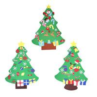ingrosso ornamenti diy crafts-2017 nuovi bambini diy feltro albero di natale set con ornamenti regalo dei bambini porta del bambino appeso a parete in età prescolare artigianato decorazione di natale SN1105