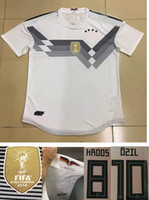 Wholesale Germany National - 2018 World Cup National Germany Football Jersey Player Version Muller Gotze Reus Kroos Draxler Neuer Ozil Hummels Home White Soccer Shirt