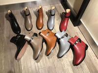 deri dövüş ayakkabıları toptan satış-Tıknaz Topuklu Hakiki Deri Kadın Ayak Bileği Çizmeler Ayakkabı Pist Savaş Çöl Patik Kadın Ayakkabı Sonbahar Bayanlar Açık Yürüyüş ...
