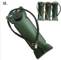 3l hydratation großhandel-Tragbare 3L Wassersack Blase Klettern Trinksystem Wandern Camping Survival Pouch Survival Wassersack Tasche KKA3889